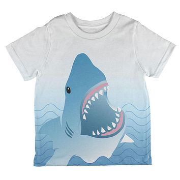 Shark Bite Ombre Waves All Over Toddler T Shirt