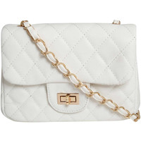 Zoe Quilted Cross Body Bag in White