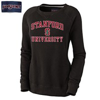 Jansport Women's Stanford Cardinals Eden Crew Sweatshirt-Black