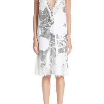 CALVIN KLEIN 205W39NYC x Andy Warhol Foundation Foil Flowers Slipdress | Nordstrom