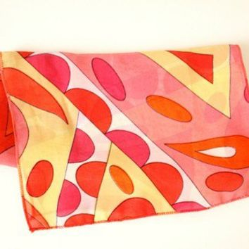Sheer Pucci Inspired Rectangle Scarf - Geometric Print Scarf