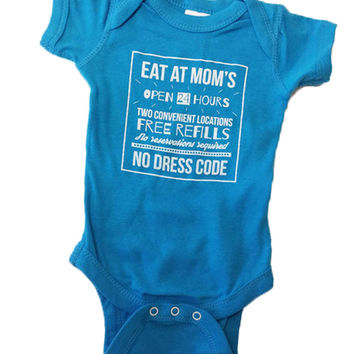 Eat At Mom's Baby Onesuit {Blue Raspberry}