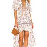 Spell & The Gypsy Collective Maisie Bambi Gown in Strawberry & Cream | REVOLVE