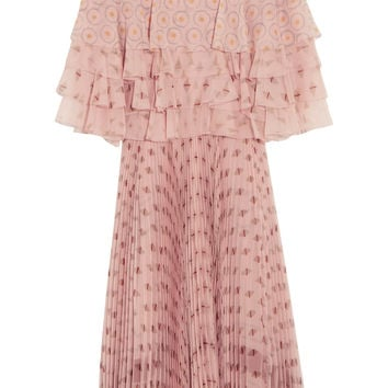 Ruffled printed silk-chiffon dress | Valentino | US | THE OUTNET