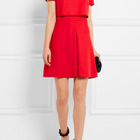 Alexander McQueen - Layered wool-crepe mini dress