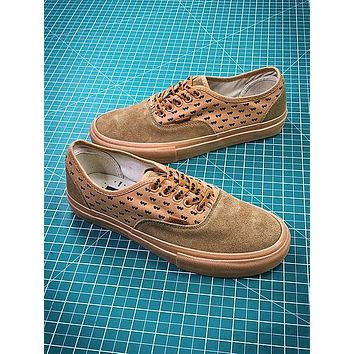 Wtaps X Vans Syndicate Authentic Wheat Canvas Shoes