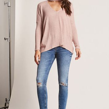 Ribbed Knit Choker Top