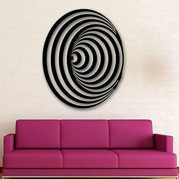 Wall Stickers Vinyl Decal Modern Decor Abstract Style Symbol Illusion Unique Gift (ig950)