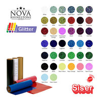 "NEW Siser EASYWEED GLITTER Heat Transfer Vinyl 20""X 9"" Choose From 39 COLORS"