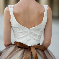 Brown and cream tutu for women Special by TutusChicBoutique