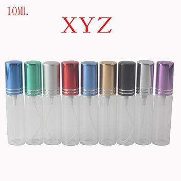 10 Color 10ml Mini Fashion Transparent Glass Perfume Bottle Portable Travel Perfume Atomizer Spray Bottle Cosmetic Container