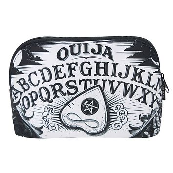 Ouija Spirit Board and Planchette Black Magic Mekeup Bag
