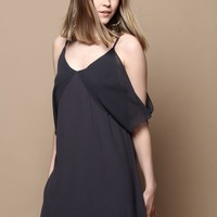 Gentle Fawn Carrera Cold Shoulder Dress - Navy