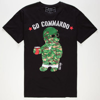 Riot Society Go Commando Mens T-Shirt Black  In Sizes