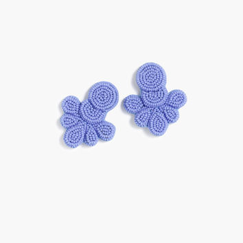 Beaded flutter earrings