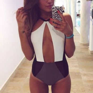 ONETOW Hollow Strappy Bandage Victoria's Secret Like Women One Piece Swimsuit Bathing Suit Bandage Bikini