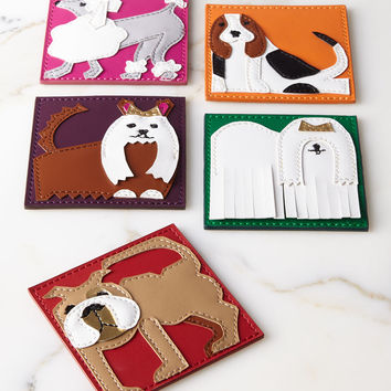 Pleather Pups Coasters, 6-Piece Set - Kim Seybert