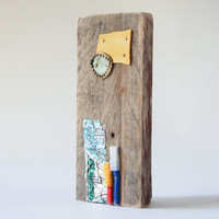 Upcycled pallet art abstract wall sculpture gift for newlyweds [T047]