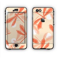The Coral DragonFly Apple iPhone 6 LifeProof Nuud Case Skin Set