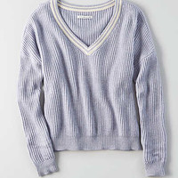 AEO Tipped Sweater, Lively Lilac