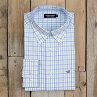 Southern Marsh Evans Gingham Dress Shirt in Mint Blue