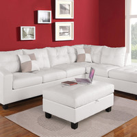Kiva White Sectional Sofa 51175