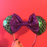 Little Mermaid Inspired Mouse Ears