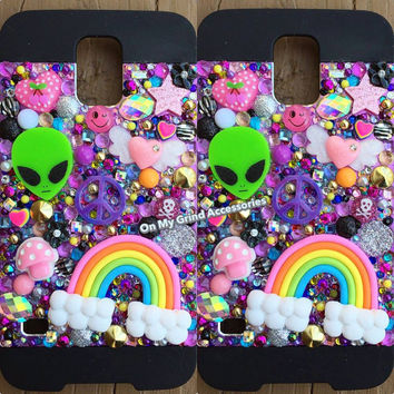 Phone Case -- Galaxy S5 -- Purple Springtime Kawaii
