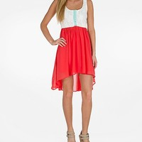 Women's Hook & Eye Dress in Red/White by Daytrip.
