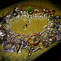 Lord of the Rings Hobbit Inspired Charm Bracelet