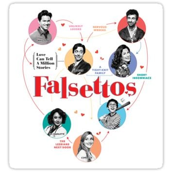 'Falsettos revival' Sticker by DancingPrince
