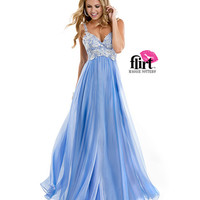 (PRE-ORDER) Flirt by Maggie Sottero 2014 Prom Dresses-French Blue Chiffon Dress with Lace Bodice