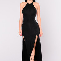 Wash Away Mineral Maxi Dress - Black