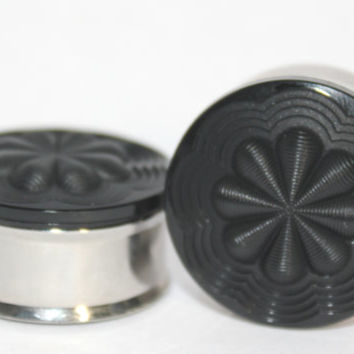 "Black Plugs 3/4"" 7/8"" 1""  19mm 22mm 25mm"
