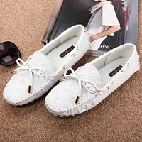 Louis Vuitton LV Women Fashion Moccasin-Gommino In Leather Driving Shoes