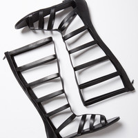 Tall Zippered Gladiator Sandals - 6