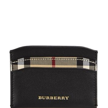 BurberryIzzy Check Leather Card Case