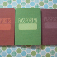 Passport scrapbook embellishment, for getaways and travelling or passport invitations