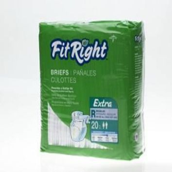 Complete Medical Fitright Extra Briefs Reg (80) (40 -50 )20 Per Bag/4 Bags/Cs