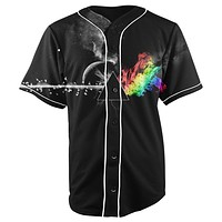 Prism Black Button Up Baseball Jersey