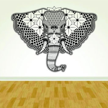 Tribal Elephant Design Vinyl Wall Decal Sticker Art Kid Children Nursery Boy