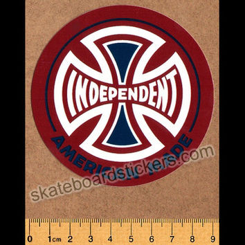Independent Trucks Skateboard Sticker - American Made - Red