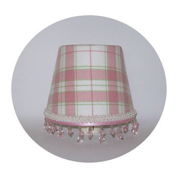 PInk & Sage Plaid fabric ~ Night Light by ToileChicBoutique