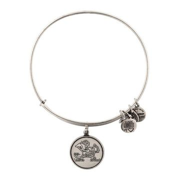 Alex and Ani University Of Notre Dame® Mascot Charm Bangle - Russian Silver