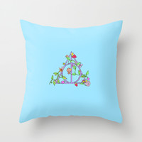 Harry potter//pastel deathly hallows Throw Pillow by Milly Scarlett