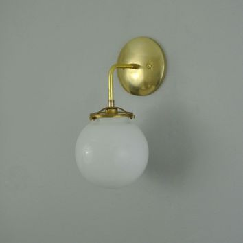 Glass Globe Wall Sconce with 90* Arm