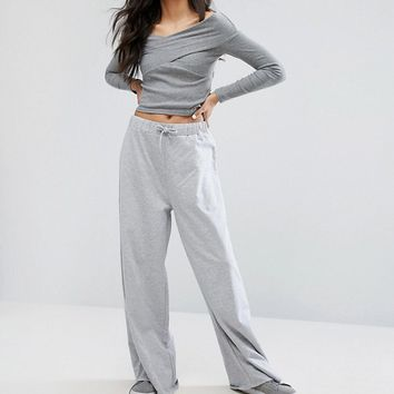 Daisy Street Tall Wide Leg Casual Trouser at asos.com
