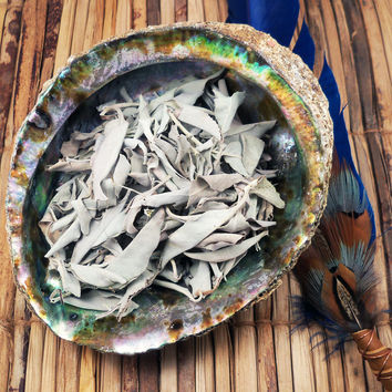 Loose White Sage Leaves Smudge Leaf Herb - Native American Wicca Pagan Smudging Ceremony