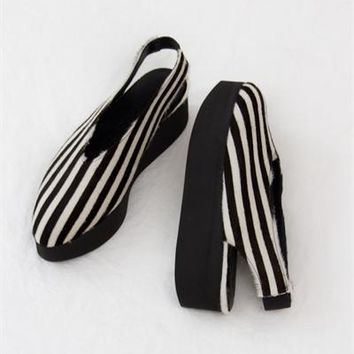 Creatures of Comfort x LD Tuttle Greta Platform- Striped Pony