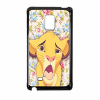 Lion Simba Pride Floral Samsung Galaxy Note Edge Case